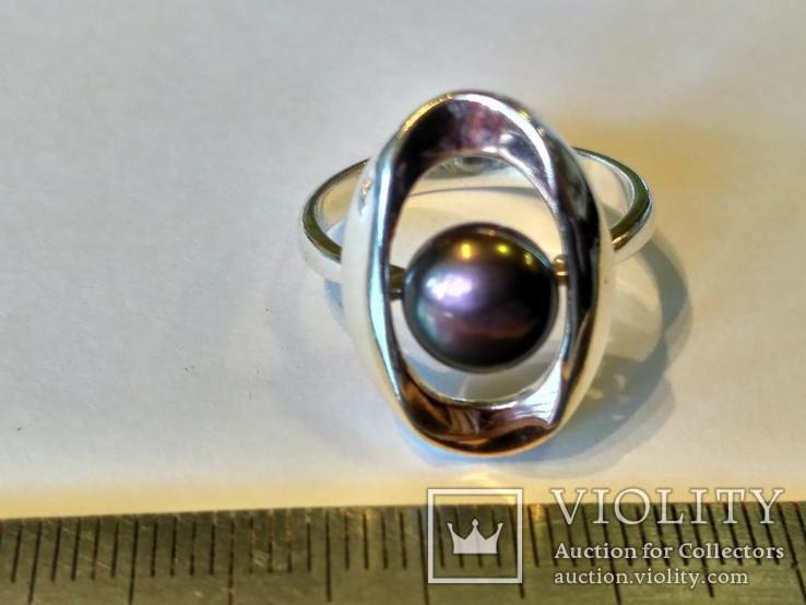 Гарнитур серьги и кольцо серебро 925 + золото 375, фото №3