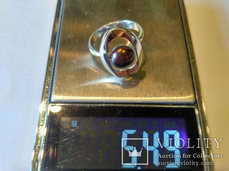 Гарнитур серьги и кольцо серебро 925 + золото 375, фото №9