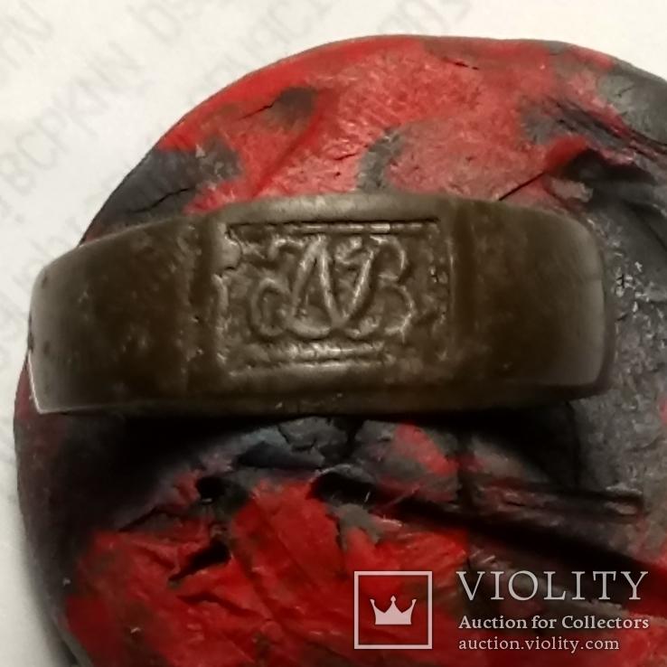 Перстень Именной с инициалами, фото №2