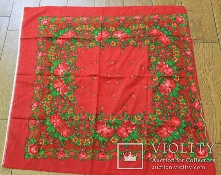 Шерстяной старинный платок №5, фото №2