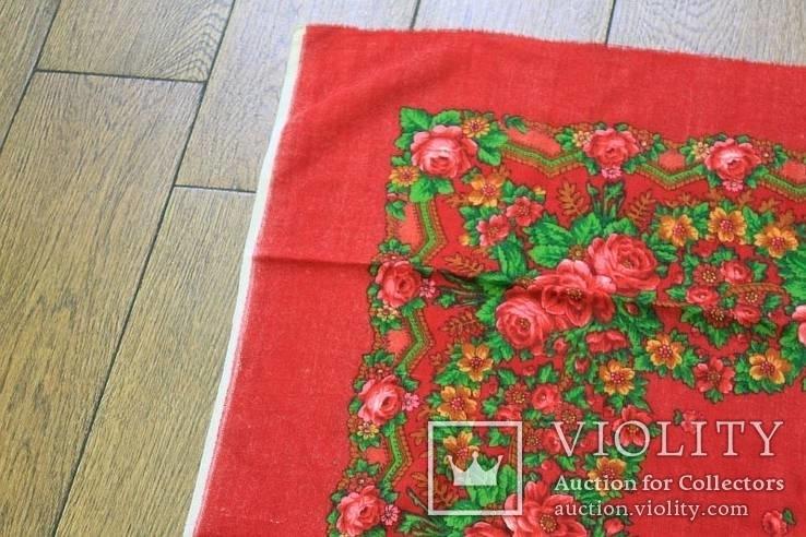 Шерстяной старинный платок №5, фото №3