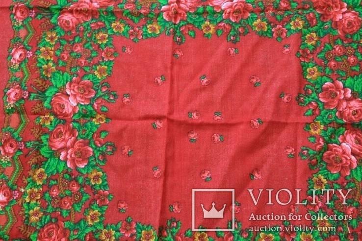 Шерстяной старинный платок №5, фото №4