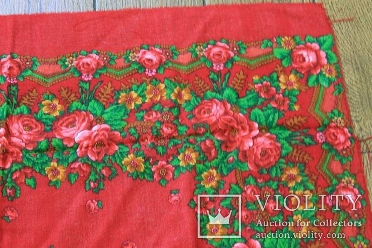 Шерстяной старинный платок №5, фото №5
