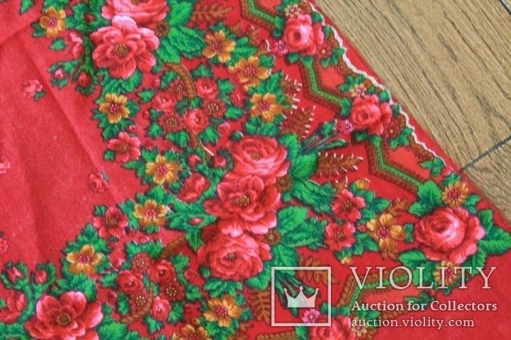 Шерстяной старинный платок №5, фото №6