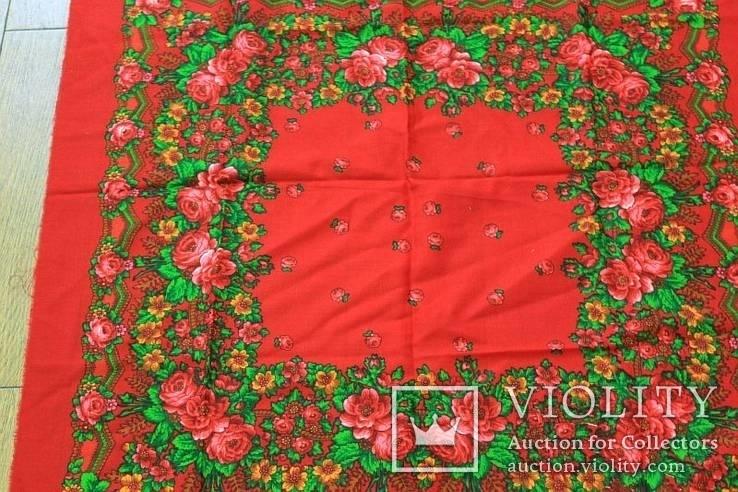Шерстяной старинный платок №5, фото №11