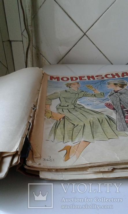 """4 журнала мод ГДР """"Modenschau"""" 50-х годов"""