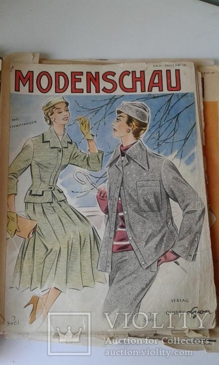 """4 журнала мод ГДР """"Modenschau"""" 50-х годов, фото №3"""