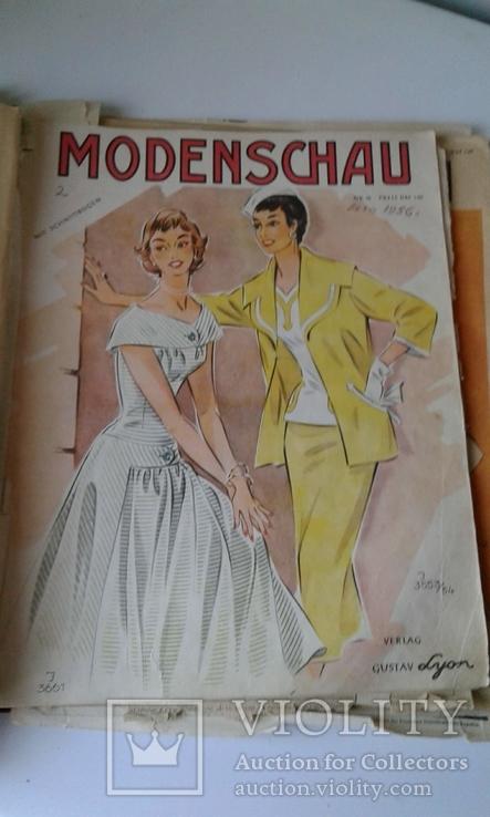 """4 журнала мод ГДР """"Modenschau"""" 50-х годов, фото №4"""
