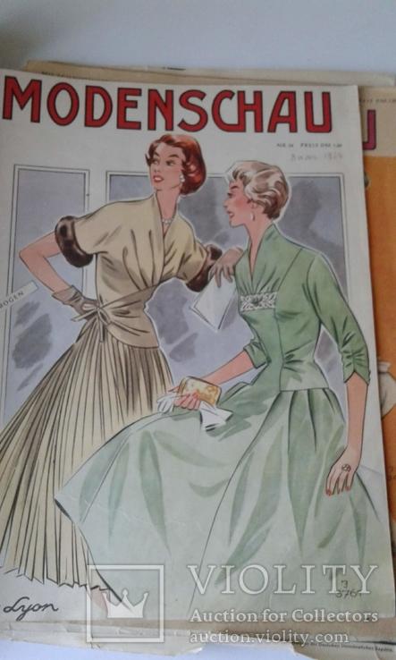 """4 журнала мод ГДР """"Modenschau"""" 50-х годов, фото №5"""
