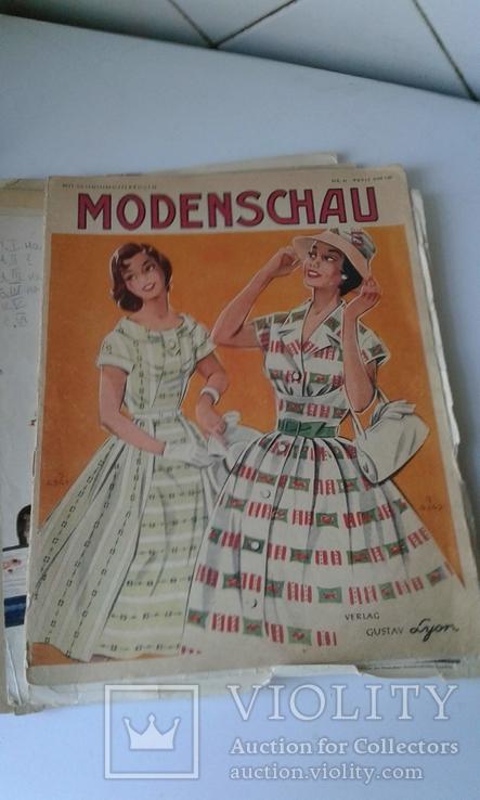 """4 журнала мод ГДР """"Modenschau"""" 50-х годов, фото №6"""