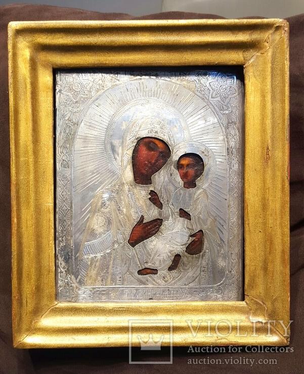 Тихвинская икона Божией Матери. Серебро 84 проба. 19 век.