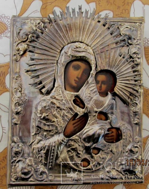 Венчальная пара. Господь Вседержитель и Смоленская икона Богородицы., фото №4