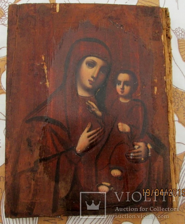 Венчальная пара. Господь Вседержитель и Смоленская икона Богородицы., фото №5