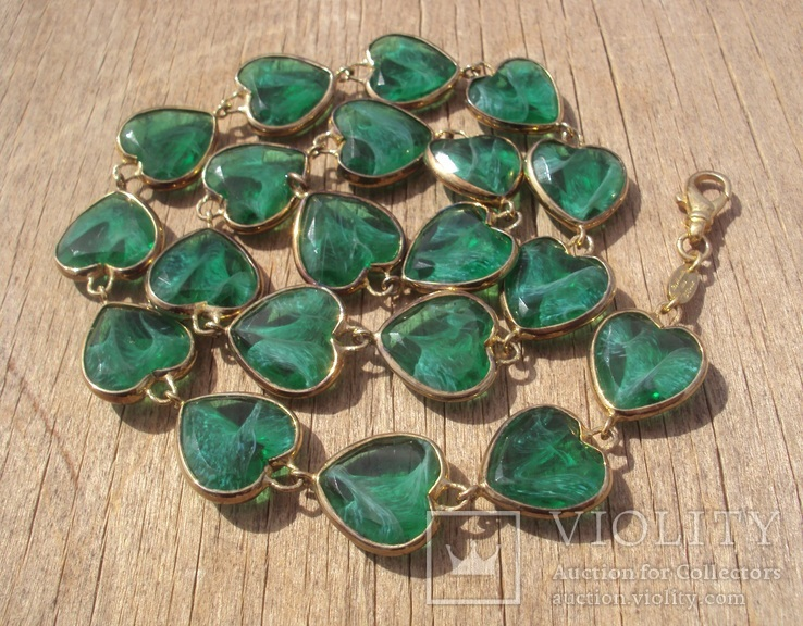 Фирменное серебряное ожерелье, Италия.