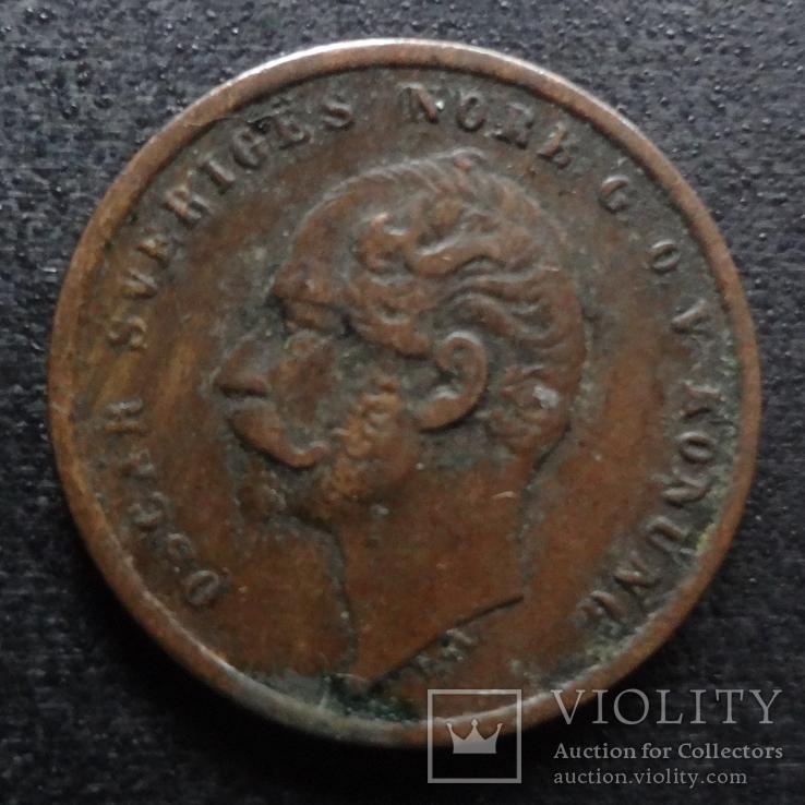 1 эре 1858 Швеция    (П.3.12), фото №2