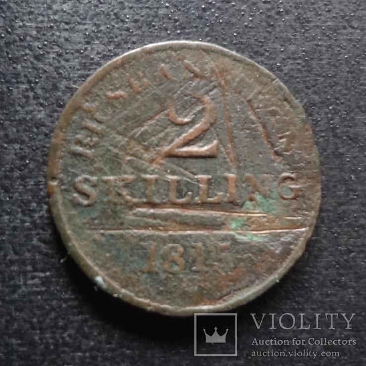 2 скиллинга 1815 Дания (П.3.22)~, фото №2