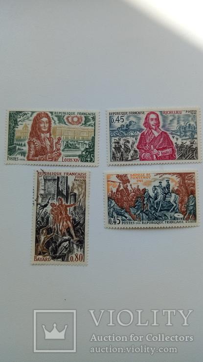 Почтовые марки Франции 1970-х годов, фото №2