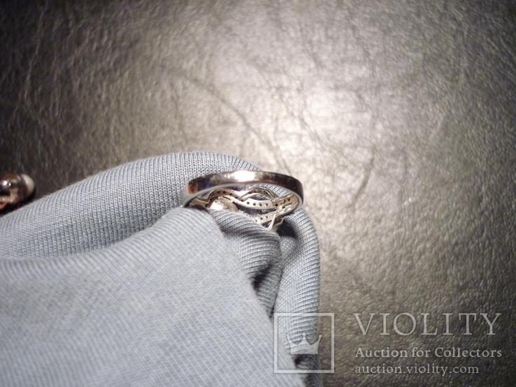 Набор - кольцо и серьги серебро 925 проба Украина, фото №9