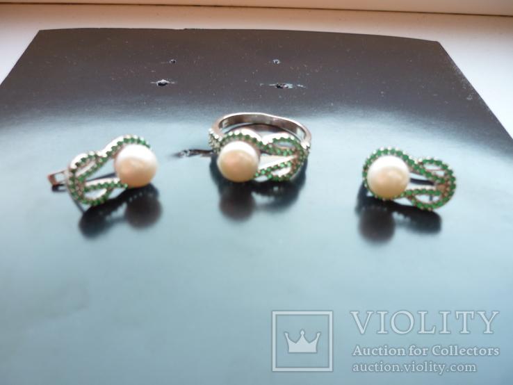 Набор - кольцо и серьги серебро 925 проба Украина, фото №10