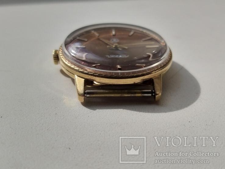 Часы Ракета (знак качества) позолота Au, фото №6