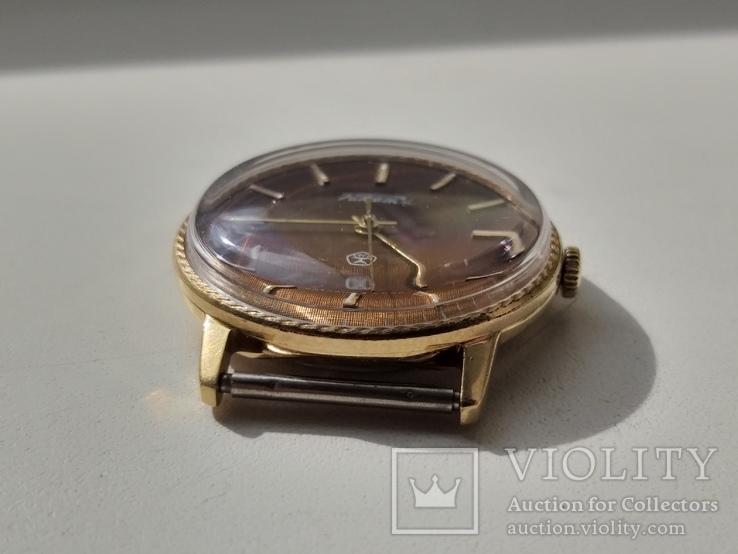 Часы Ракета (знак качества) позолота Au, фото №8