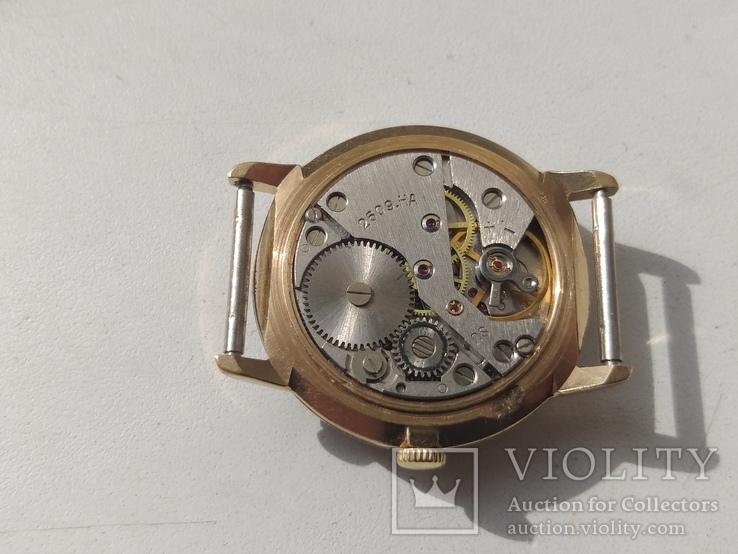 Часы Ракета (знак качества) позолота Au, фото №10