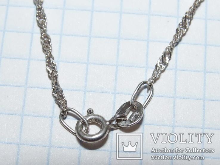 Цепочка 44 см (вес 2,02 гр, серебро 925), фото №5