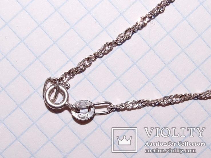 Цепочка 44 см (вес 2,02 гр, серебро 925), фото №6