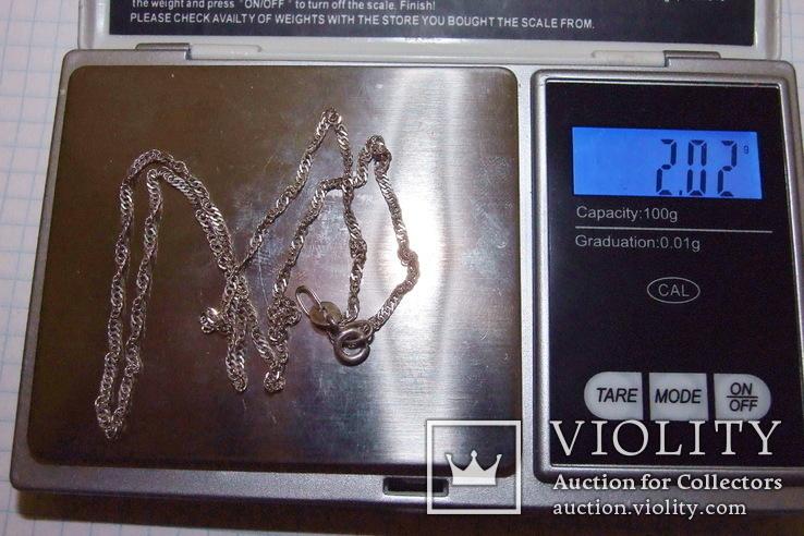Цепочка 44 см (вес 2,02 гр, серебро 925), фото №7
