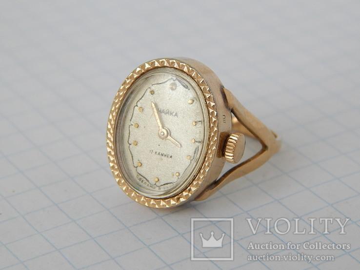 """Часы-перстень """"Чайка 1301"""" позолота AU (на ходу)., фото №3"""