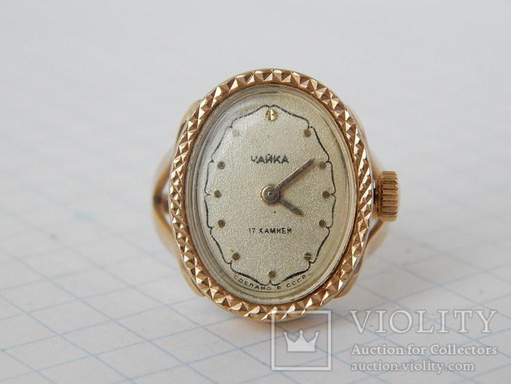 """Часы-перстень """"Чайка 1301"""" позолота AU (на ходу)., фото №4"""