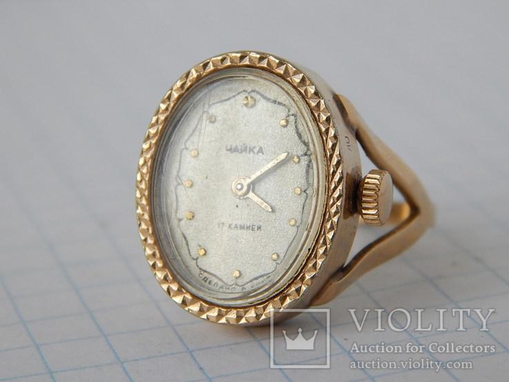 """Часы-перстень """"Чайка 1301"""" позолота AU (на ходу)., фото №5"""