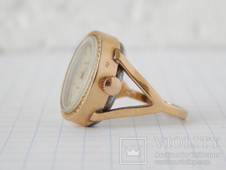 """Часы-перстень """"Чайка 1301"""" позолота AU (на ходу)., фото №6"""