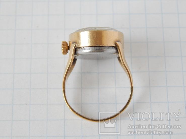 """Часы-перстень """"Чайка 1301"""" позолота AU (на ходу)., фото №8"""