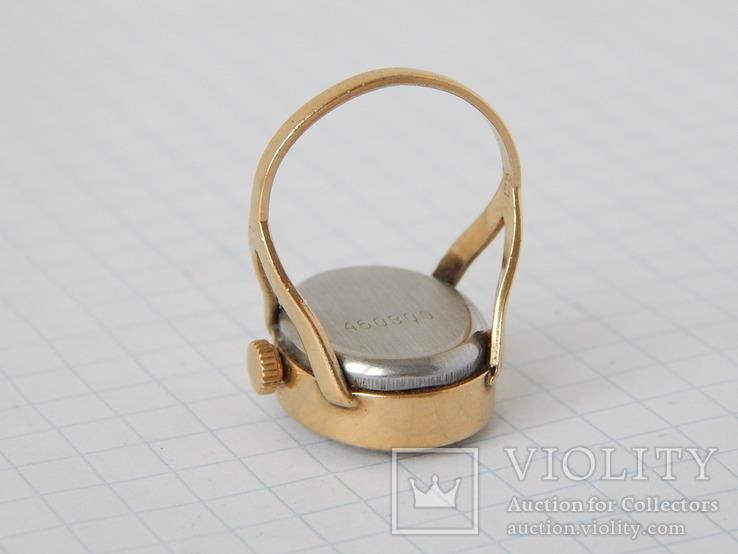 """Часы-перстень """"Чайка 1301"""" позолота AU (на ходу)., фото №9"""