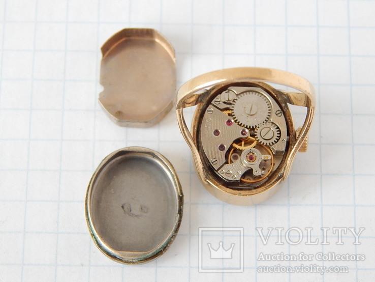 """Часы-перстень """"Чайка 1301"""" позолота AU (на ходу)., фото №12"""
