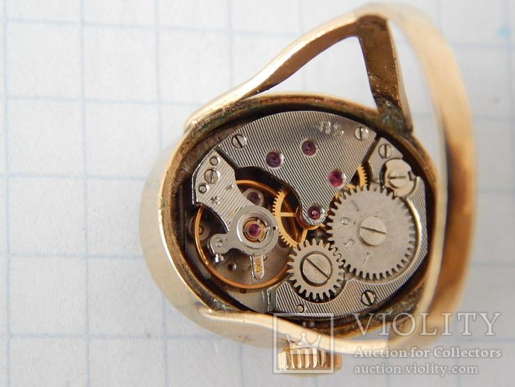 """Часы-перстень """"Чайка 1301"""" позолота AU (на ходу)., фото №13"""