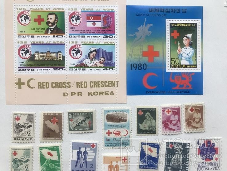 Марки красный крест. 36 марок. 2 блока., фото №2