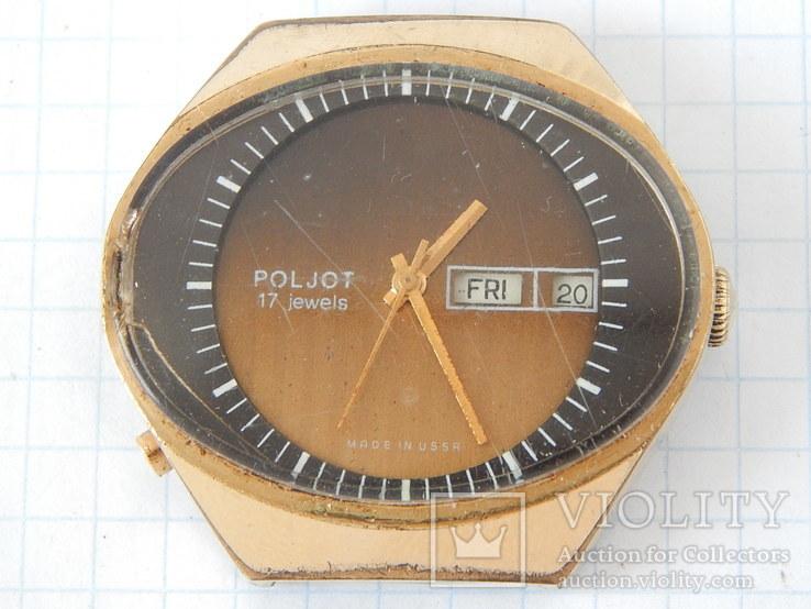 "Часы ""POLJOT 2628H"" USSR позолота AU10 (на ходу), рыбий глаз., фото №3"