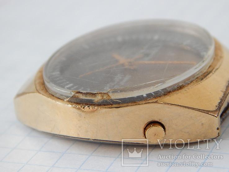 "Часы ""POLJOT 2628H"" USSR позолота AU10 (на ходу), рыбий глаз., фото №9"