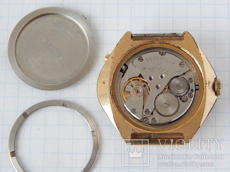 "Часы ""POLJOT 2628H"" USSR позолота AU10 (на ходу), рыбий глаз., фото №11"