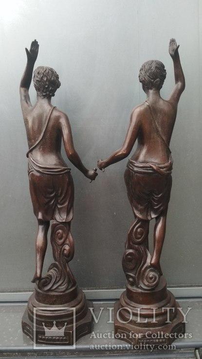 Две большие бронзовые фигуры ,клейма., фото №5