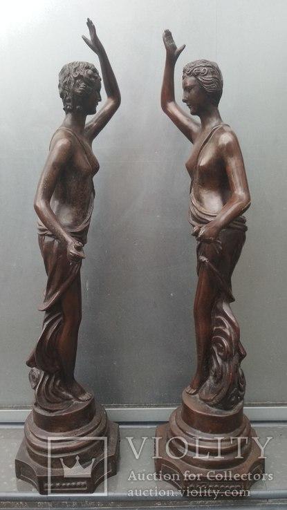 Две большие бронзовые фигуры ,клейма., фото №6