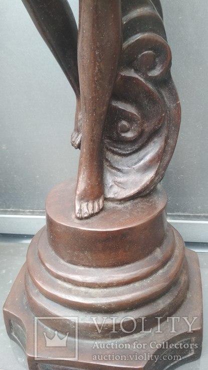 Две большие бронзовые фигуры ,клейма., фото №10