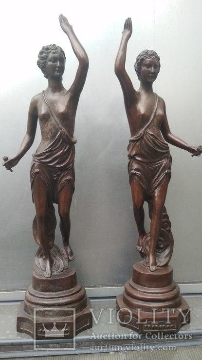 Две большие бронзовые фигуры ,клейма., фото №12