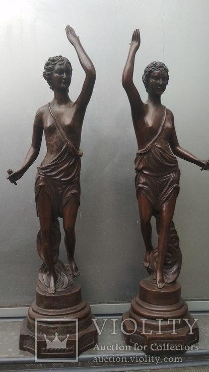 Две большие бронзовые фигуры ,клейма., фото №13