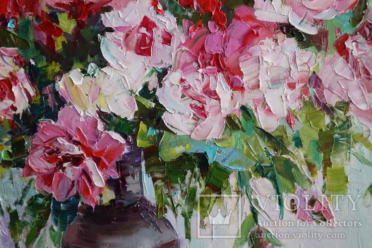 """""""Пионы"""", масляными красками, 70х50 см. Ю. Смаль, фото №4"""