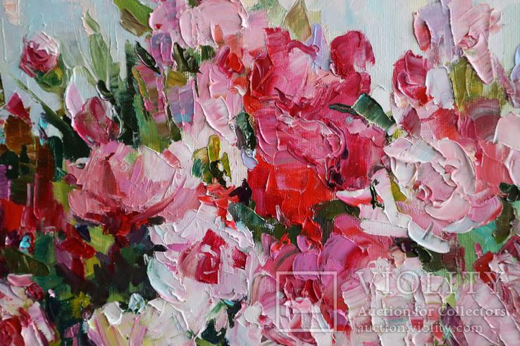"""""""Пионы"""", масляными красками, 70х50 см. Ю. Смаль, фото №5"""