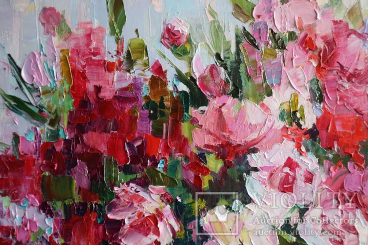 """""""Пионы"""", масляными красками, 70х50 см. Ю. Смаль, фото №6"""