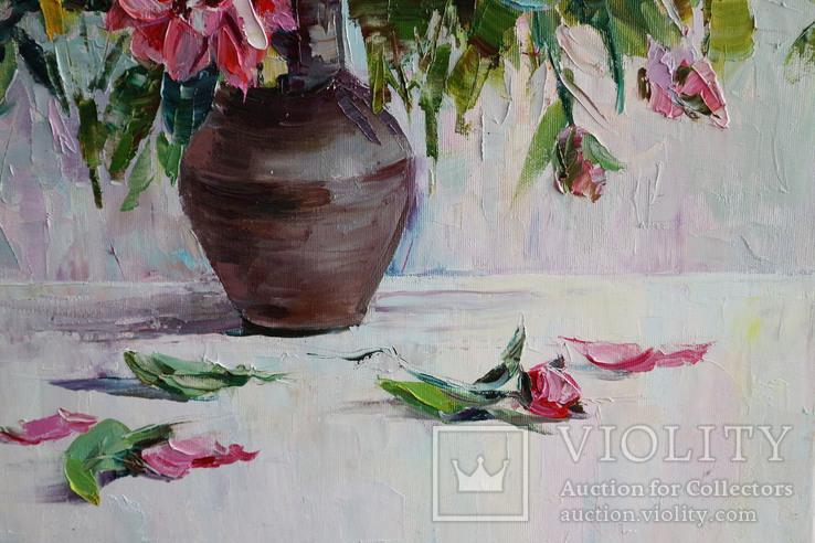 """""""Пионы"""", масляными красками, 70х50 см. Ю. Смаль, фото №9"""